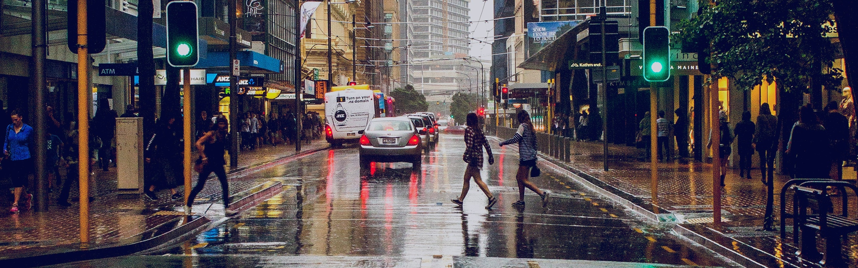 Photo of Willis Street in the rain